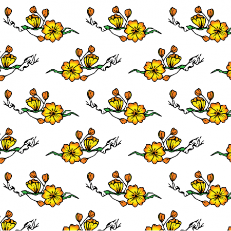 Tkanina 16328 | Kwiaty na bialym
