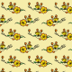 Fabric 16330 | Kwiaty na żółtym