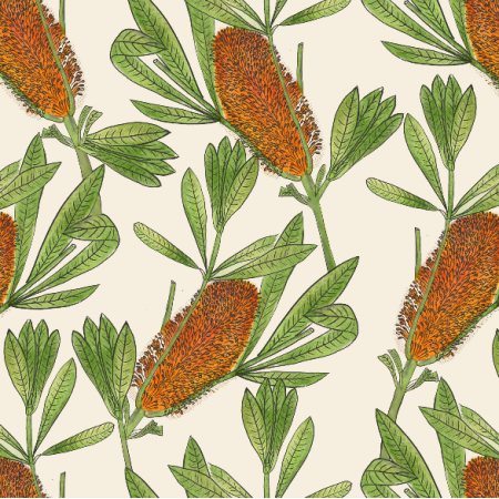 Fabric 16353 | banksia
