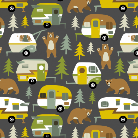 16356 | Camping cars ans bears - grey