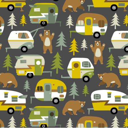16356 | Camping cars ans bears - grey