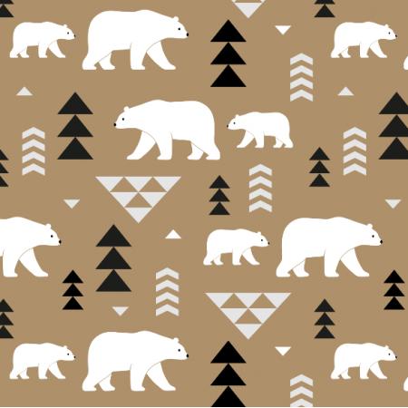 Fabric 16361 | polar bears // beige
