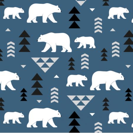 Fabric 16362 | polar bears // blue
