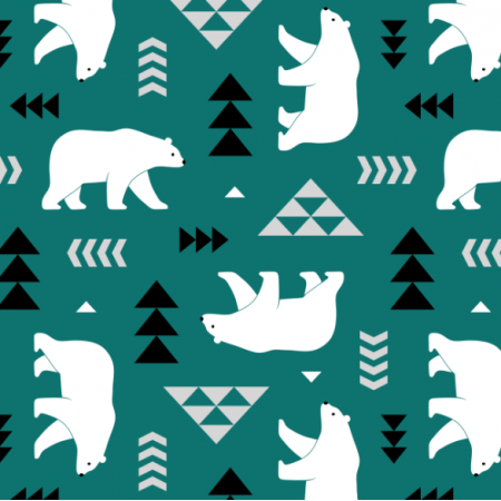 16363 | polar bears // dark green