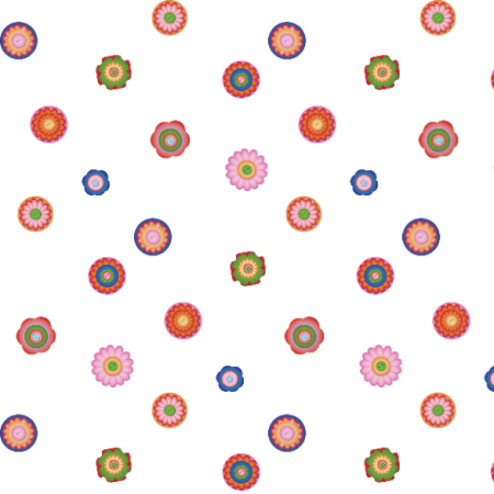 Fabric 16379 | Kwiatki geometryczne