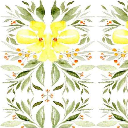 Tkanina 16423 | żółty ogród