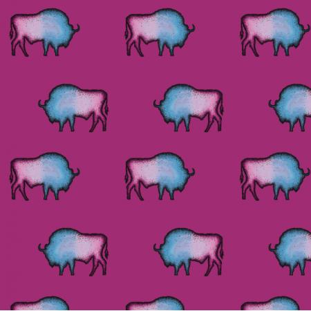 16439 | Żubry na różowym