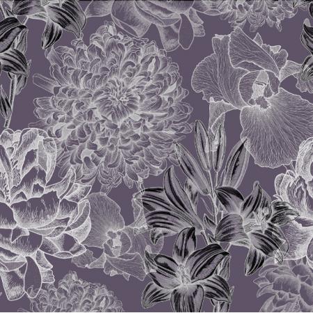 16463 | Kwiaty na fiolecie