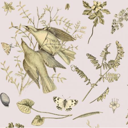 Fabric 16481 | PTAKI NA LILIOWYM TLE