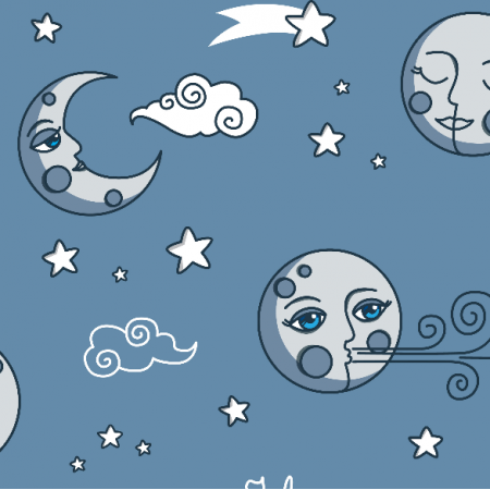 Fabric 16489 | I love you to the moon and back