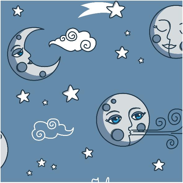 Tkanina 16489   I love you to the moon and back