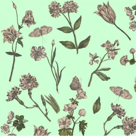 Fabric 16519 | OGRÓD BOTANICZNY W ZIELENI - BOTANICAL GARDEN ON GREEN