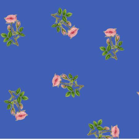 Fabric 16521 | RÓŻYCZKI NA SZAFIROWYM TLE - ROSES ON PALACE BLUE