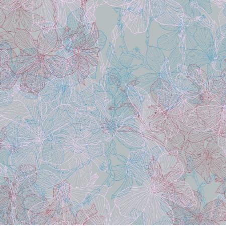 Fabric 16542 | Len na błękicie