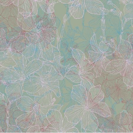 Fabric 16544 | Len na zielonym