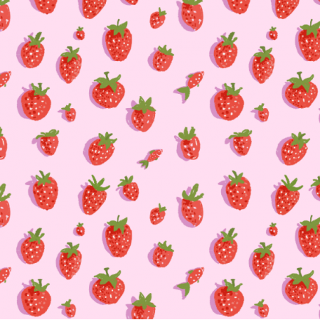 Fabric 16551 | Truskawki / strawberry