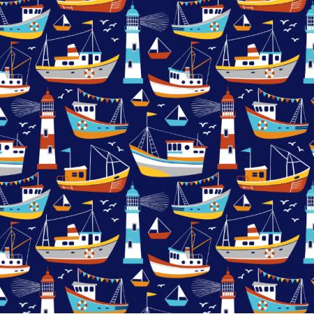 Tkanina 16552 | Fishing boats