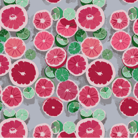 Fabric 16553 | Grejpfrut/Grapefruit