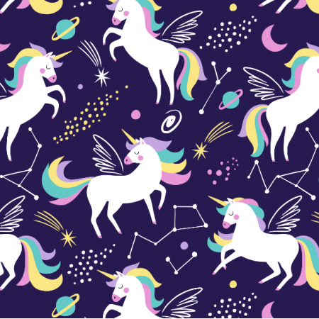 Fabric 16556 | galaxy unicorn