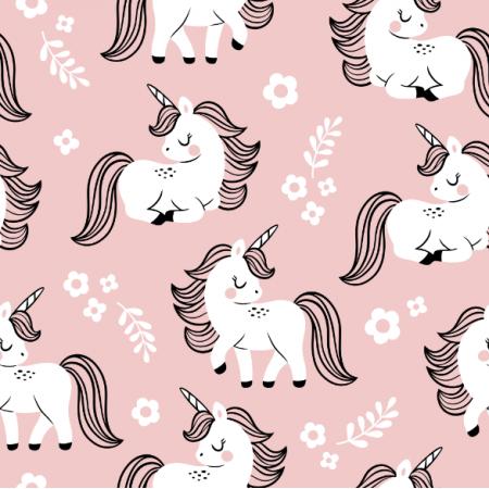 Fabric 16558 | baby unicorns // pink