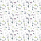 Fabric 16603 | Childish pattern with dinosaurs and palm trees00000