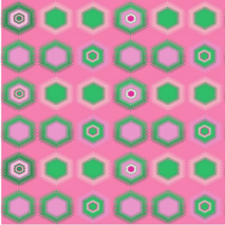 Fabric 16668 | cukierkowe sześciokąty