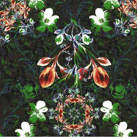Fabric 16685 | Kompozycja z kwiatami - seria 1