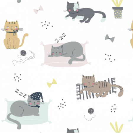 16738 | Childish pattern with cats00