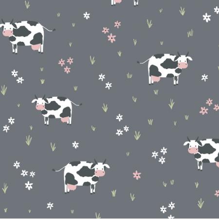 Tkanina  | Childish pattern with cows0
