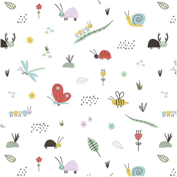 Tkanina 16740 | Cute insects0