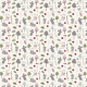 Fabric 16741 | Childish pattern with mouses, mushroom and flowers0
