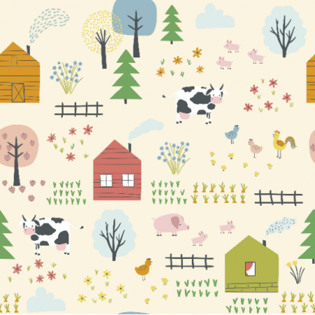 Fabric  | Landscape with village0