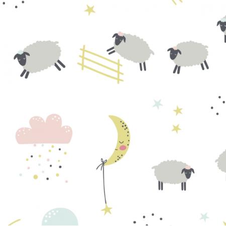 16757 | Good night. Childish pattern with sheeps0