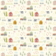 Fabric  | Cartoon village00