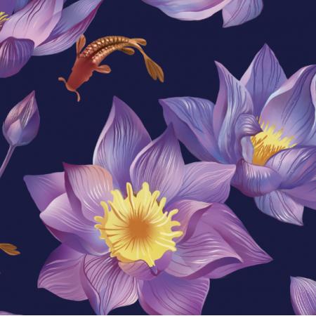 Tkanina 16821 | Water Lily