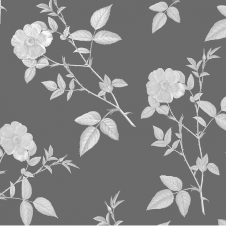Fabric 16832 | róże w szarości
