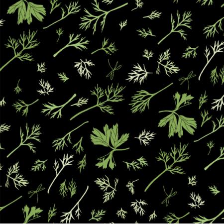 Fabric  | dill and parsley/koperek i pietruszka