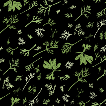 Fabric  | dill and parsley/koperek i pietruszka