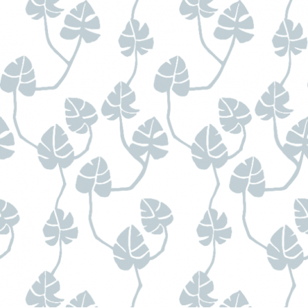Fabric 16845 | monstera-grey1