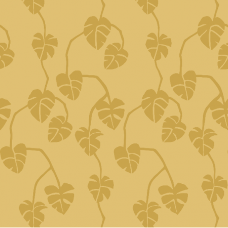 Fabric 16848 | monstera - honey mustard