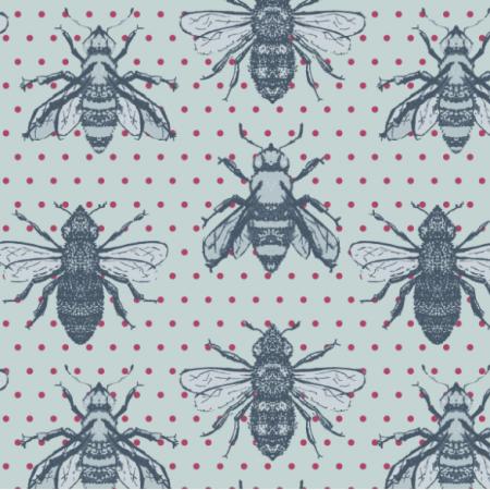 16869   vintage Pszczoły na kropkach