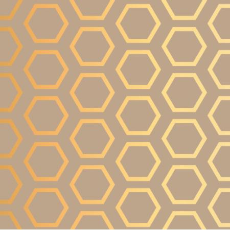 16881 | Złoty Plaster miodu na beżowym tle