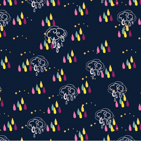 1857 | Rainy dots and clouds