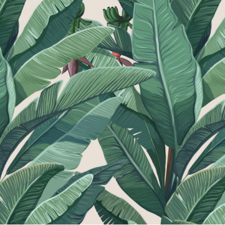 | banana leaves