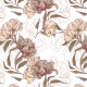 Fabric 17075   KWIATY VINTAGE   NA BIAŁYM   MNIEJSZE