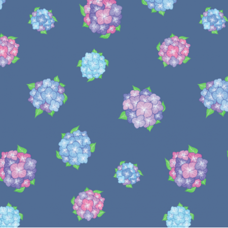 17129 | Hortensja2 na niebieskim tle