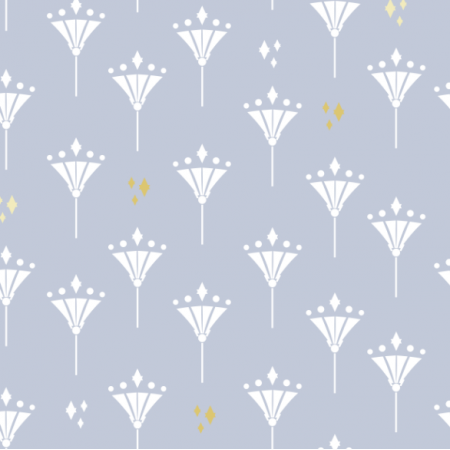 Tkanina 17140 | Art deco lilie blue