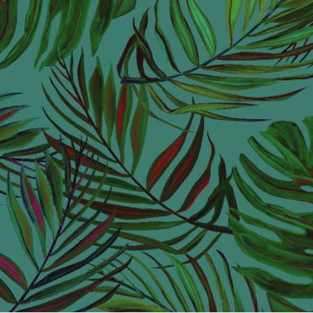 Tkanina 17171 | liscie na zielonym tle