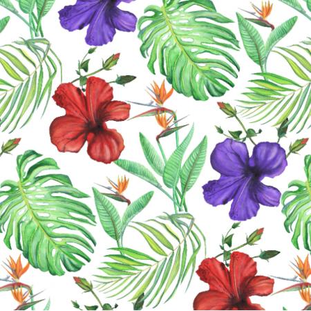 Fabric 17172 | Tropical Classic białe tło
