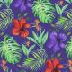 Fabric 17173 | Tropical Classic granatowe tło